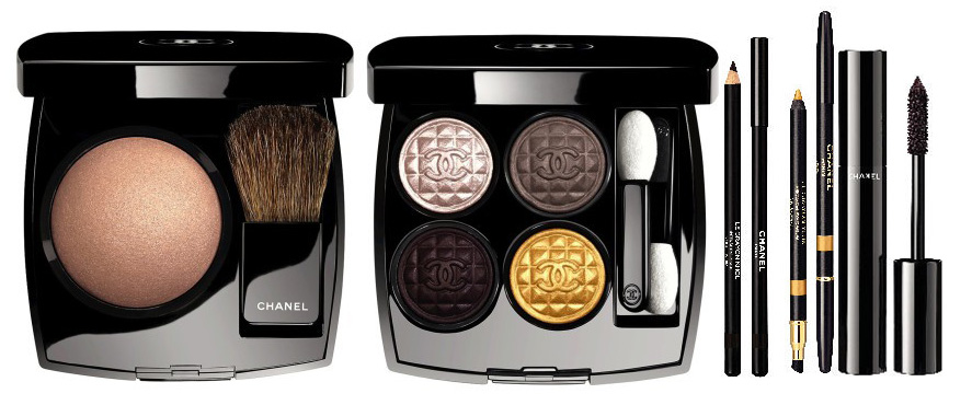 Chanel Rouge Noir Absolument Makeup Collection for Christmas 2015 eye products
