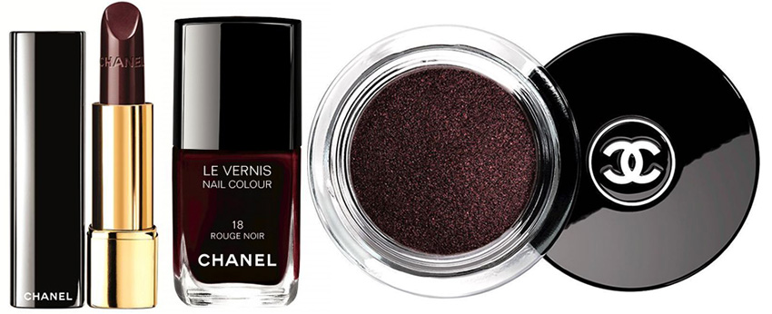 Chanel Rouge Noir Absolument Makeup Collection for Christmas 2015 products
