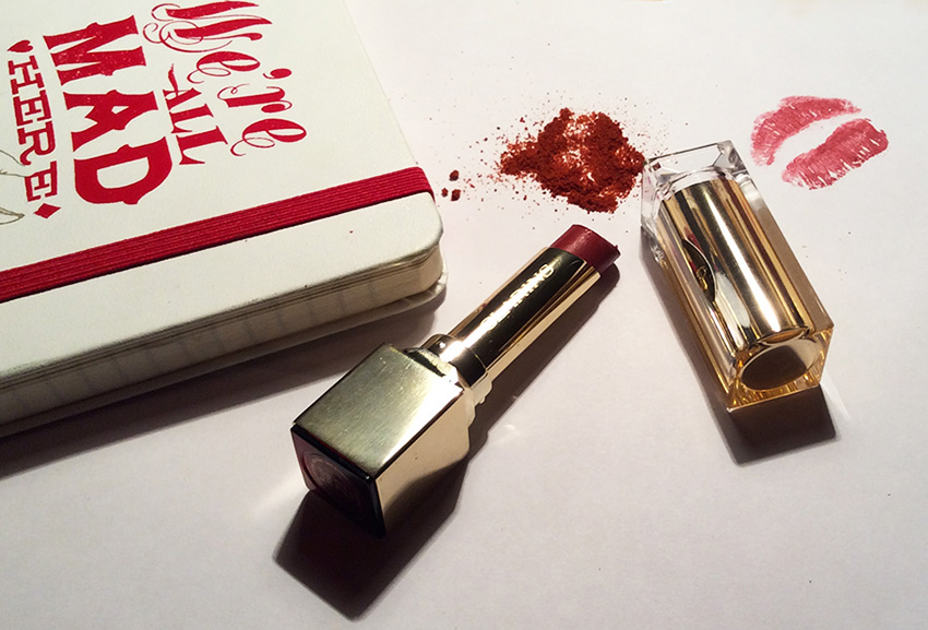 Clarins Rouge Eclat Lipstick in 22 Red Paprika Review and Swatches