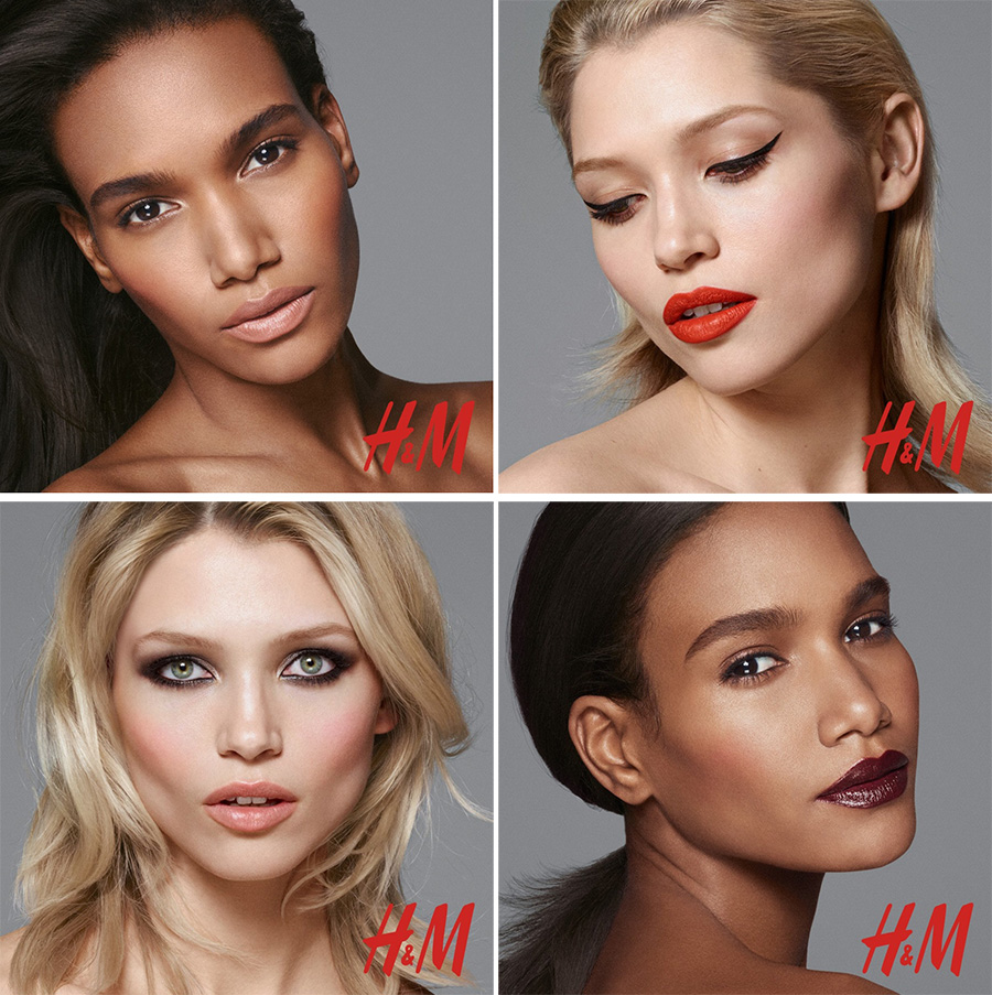H & M beauty and makeup promo campaigns