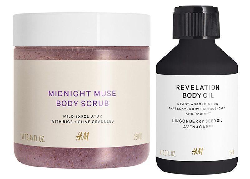 H&M Body scrub and body oil