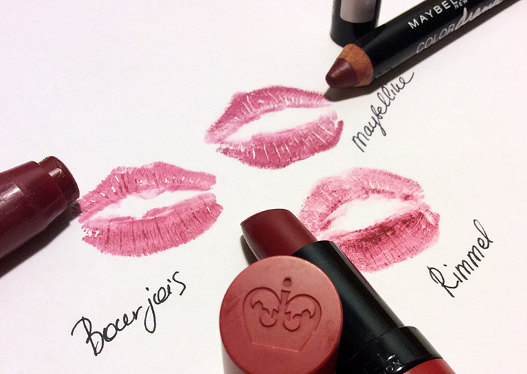 3 Affordable Berry Lipsticks for Autumn Rimmel, Maybelline and Bourjois