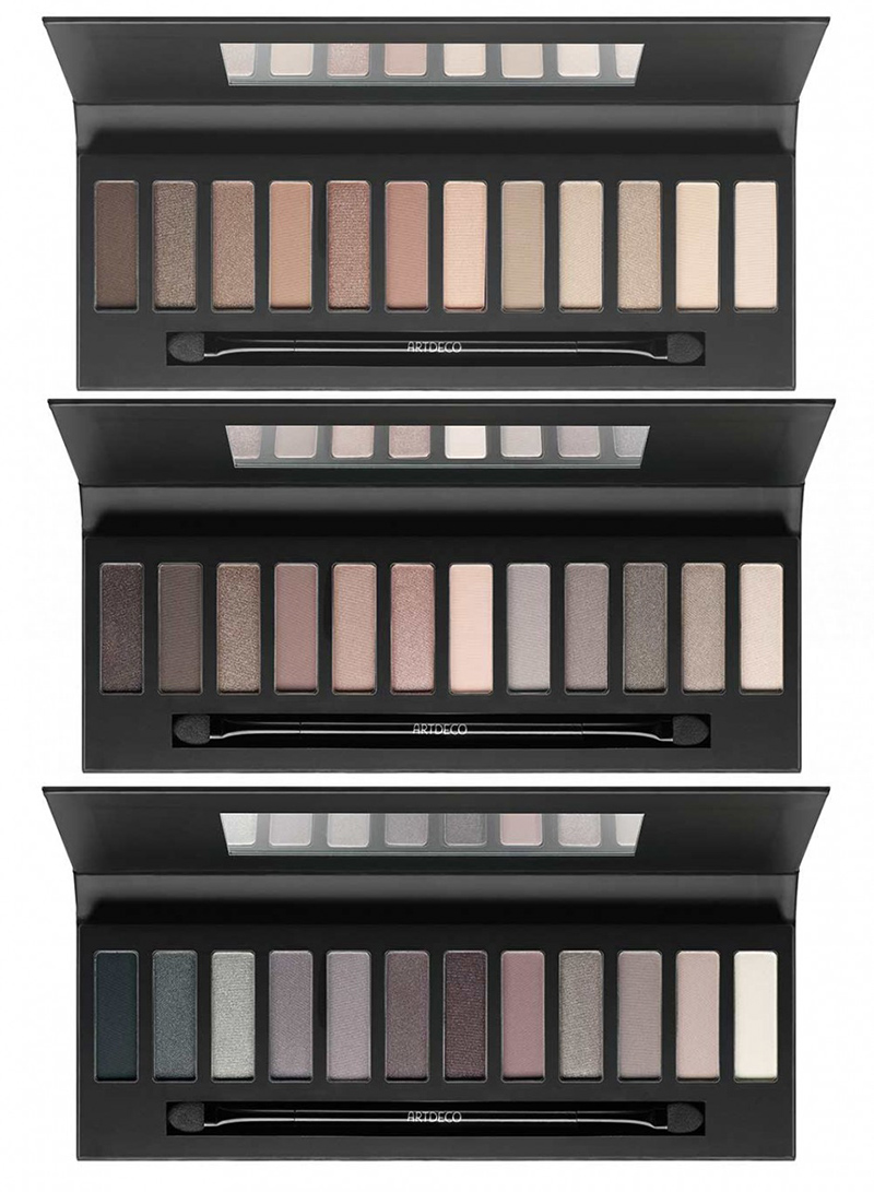 ArtDeco Eyeshadow Palette  warn, neutral and cool toned holiday 2015