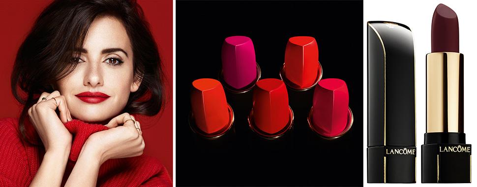 Lancôme L'ABSOLU ROUGE DÉFINITION lipstick Penelope Cruz