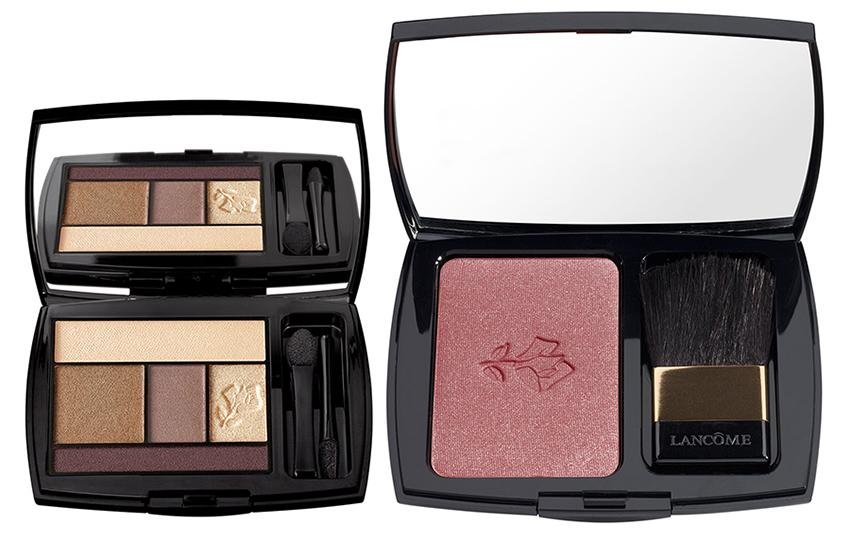 Lancome Makeup Collection for Christmas 2015 blush and eye shadows