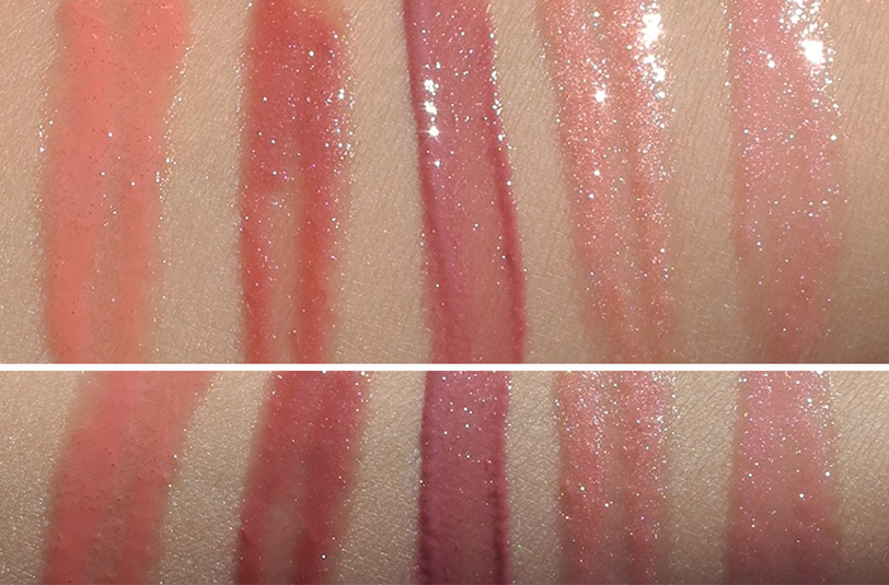 Rouge Bunny Rouge Glassy Gloss Sweet Excess Review and Swatches of five shades