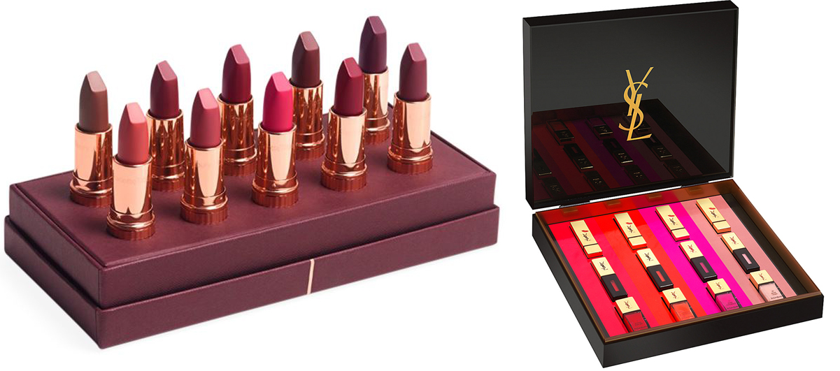 Charlotte Tilbury and YSL lips sets for Christmas 2015