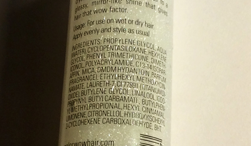 Color Wow Pop & Lock Crystallite Shellac Review ingredients