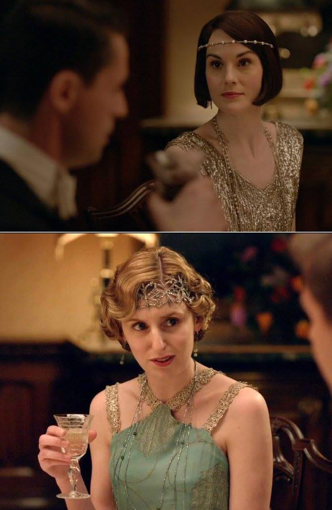Downton Abbey Mary and Edith crawley 1920 style downton abbey