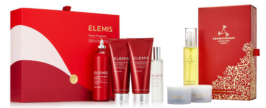 Elemis Forever Frangipani Collection and Aromatherapy Associates Nourish Enrich Christmas 2015