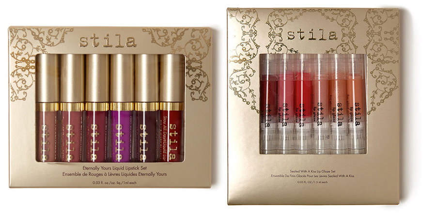 Stila Sealed With A Kiss Makeup Collection for Christmas 2015 lip sets