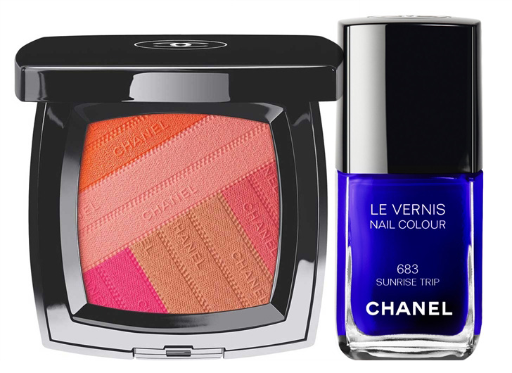 Chanel LA Sunrise Makeup Collection for Spring 2016 blush and nail polish