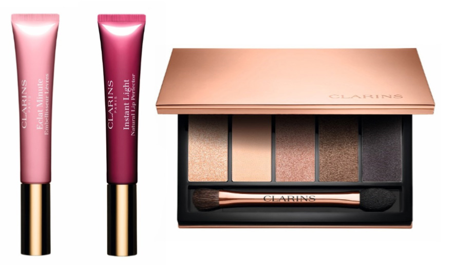 Clarins Instant Glow Spring 2016 Makeup Collection lip perfectors and eye shadows