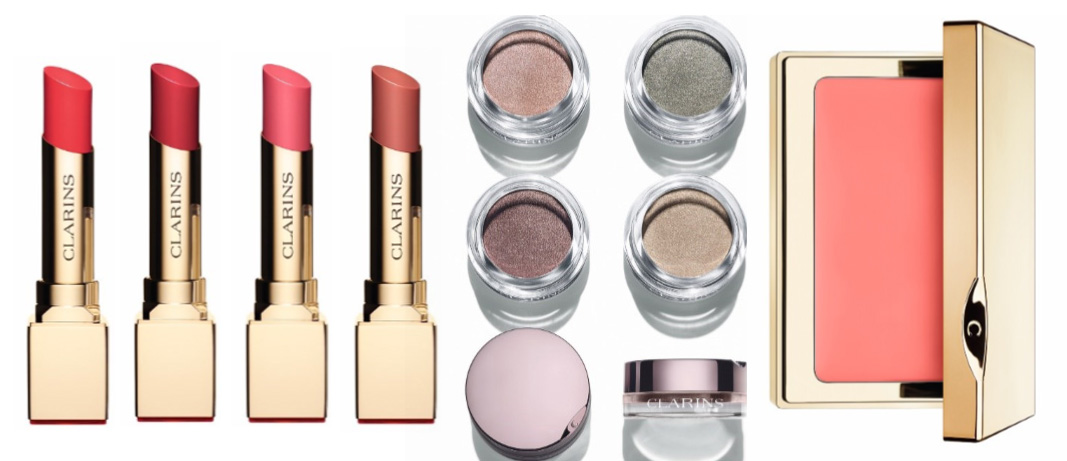 Clarins Instant Glow Spring 2016 Makeup Collection lipstick, blush and eye shadows