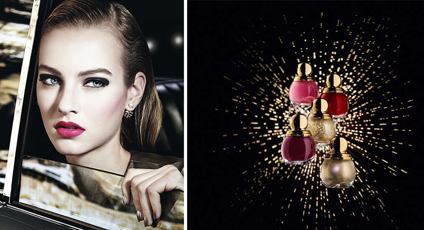 Dior Makeup Collection for Christmas 2015 promo and nail polishes
