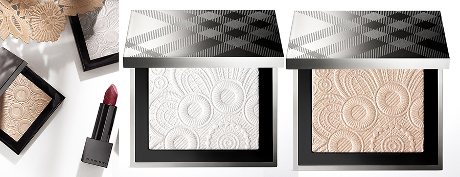 Burberry SPRING SUMMER 2016 RUNWAY PALETTES in White 01, 02 Nude Gold