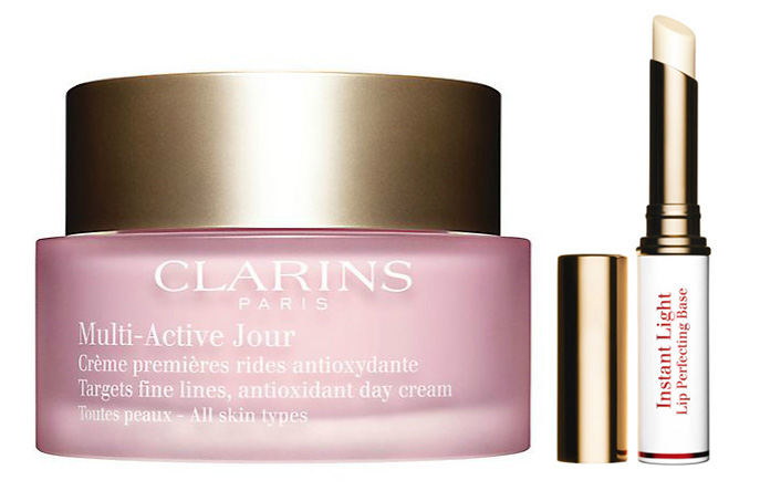 Clarins Multi-Active Day Cream All Skin Types Instant Ligth Lip Perfecting Base