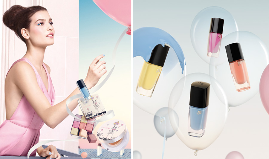 Lancome From Lancome With Love Makeup Collection for Spring 2016 promo and nails