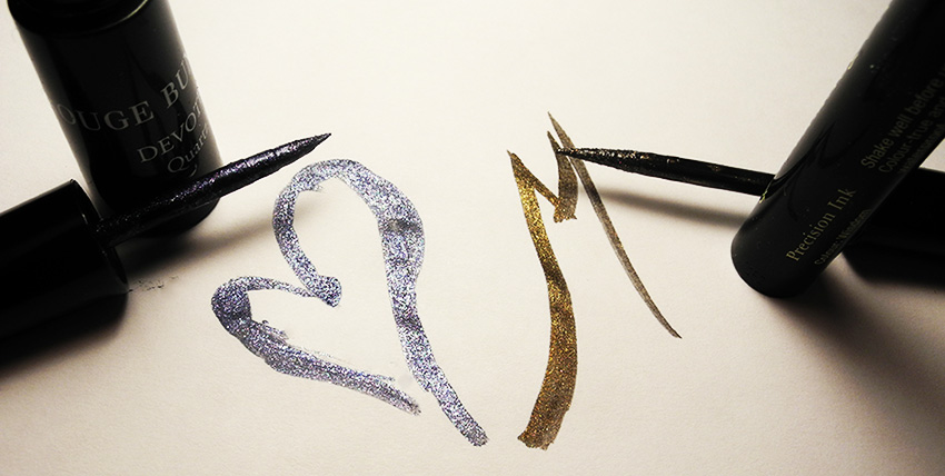 Sparkling Eye Liners I Am Loving Illamasqua and Rouge Bunny Rouge