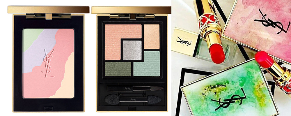 YSL Boho Stones Makeup Collection for Spring 2016 highlighter and eye shadows