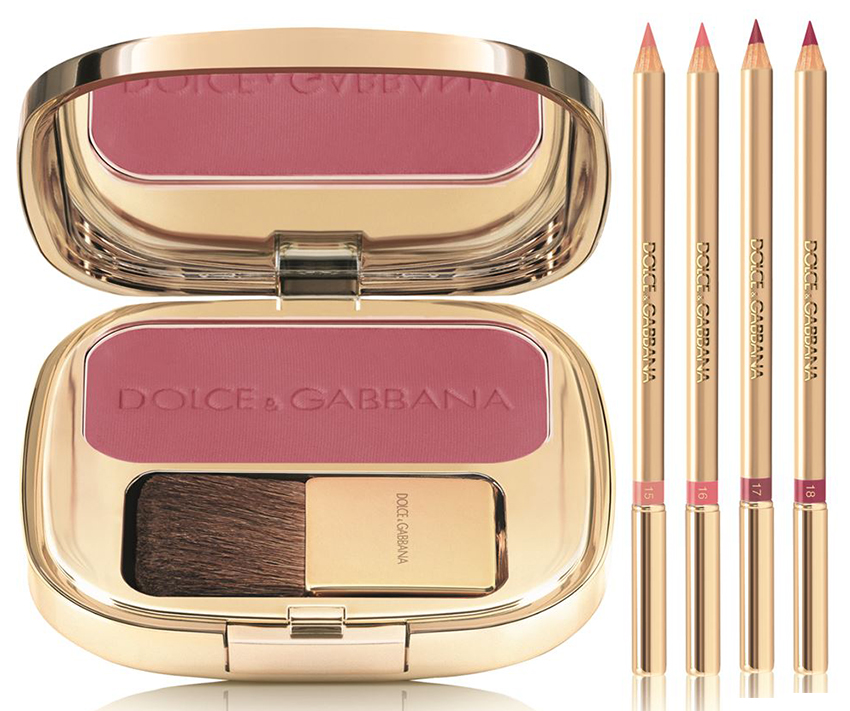 Dolce & Gabbana Rosa Makeup Collection for Spring 2016 blush and lip liners