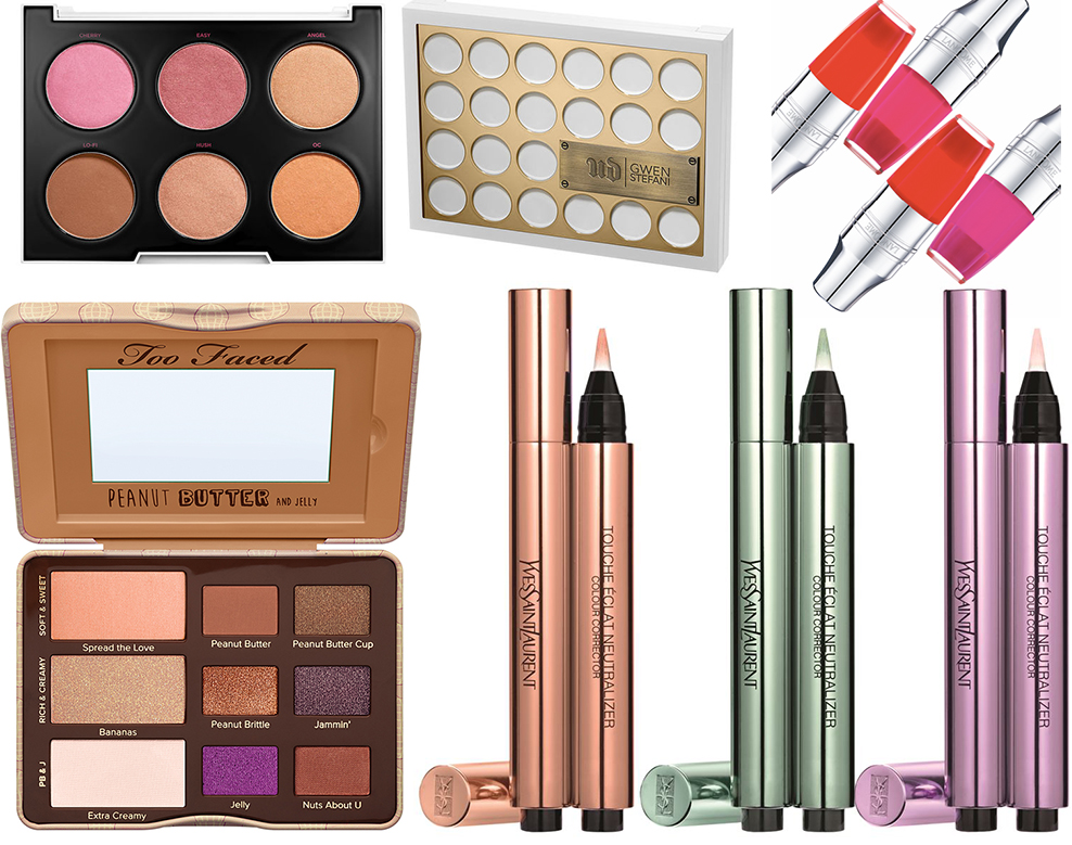 New SS16 makeup launches urban decay and Gwen stefani YSL colour correctors Lancome Juicy Shakers Too Faced Peanut Butter and Jelly