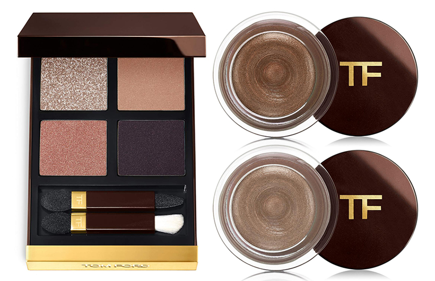 Tom Ford eye quad in disco dust and color cream for the eyes platinum and spice spring 2016