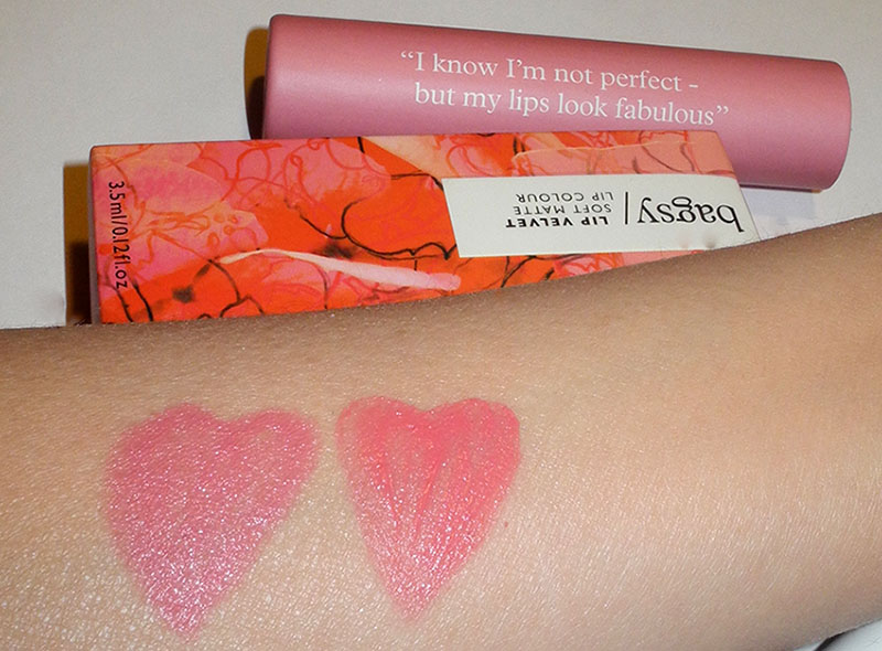 Bagsy Lip Velvet And Wow Lips Review and Swatches living the dream and happy days