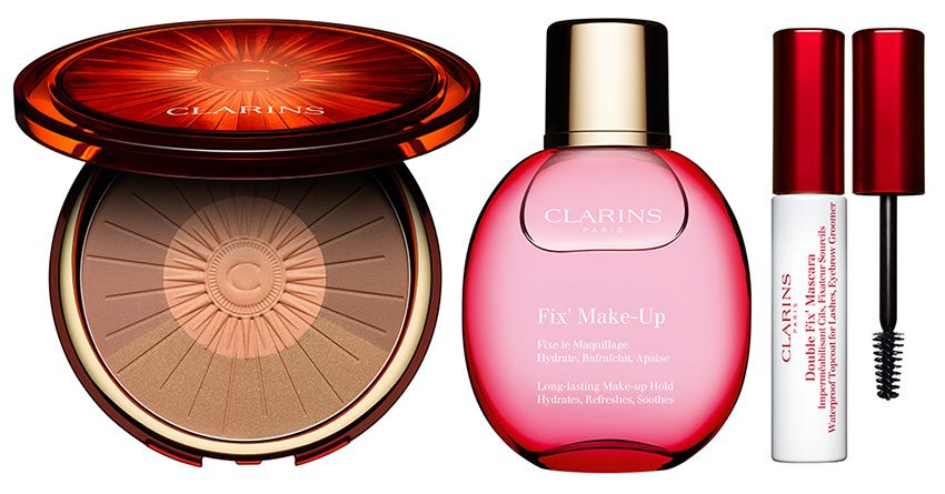 Clarins Sunshine Makeup Collection for Summer 2016 bronzer makeup fix mascara top coat