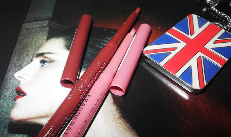 Rimmel Exaggerate Full Colour Lip Liners Review and Swatches east end snob and obsession 1