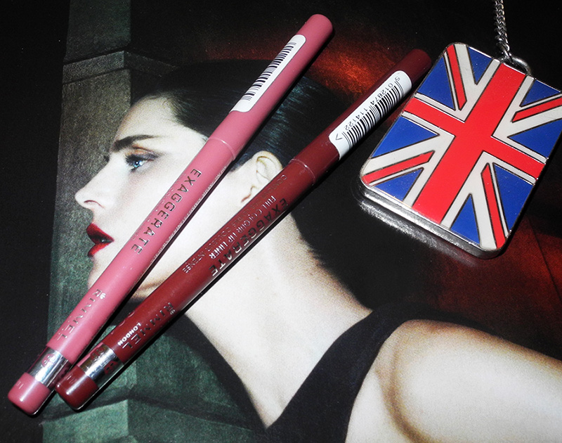 Rimmel Exaggerate Full Colour Lip Liners Review and Swatches east end snob and obsession