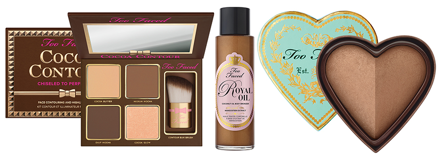 Too Faced Makeup Collection for Summer 2016 body oil, bronzer, contour