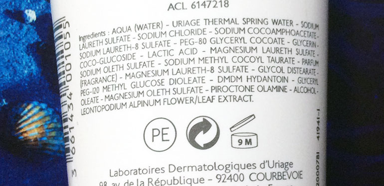 Uriage Gyn Phy Intimate Hygiene Cleansing Gel Review ingredients