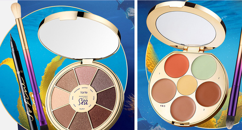 tarte Raiforest of the Sea Makeup Collection for Summer 2016 eye shadows and concealers