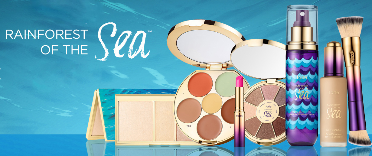 tarte Raiforest of the Sea Makeup Collection for Summer 2016 promo