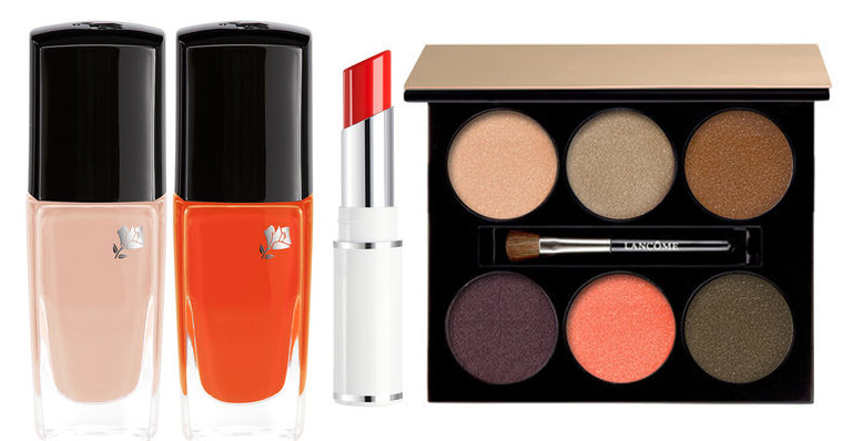 Lancome Summer Bliss Makeup Collection for Summer 2016 lips, nails and eye palette