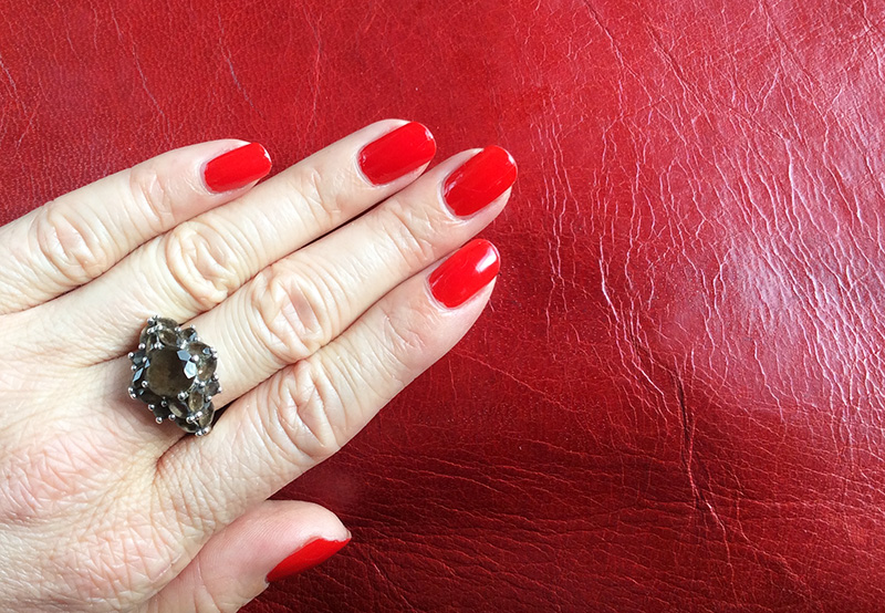 Max Factor Glossfinity Nail Polish in 85 Cerise nails of the day