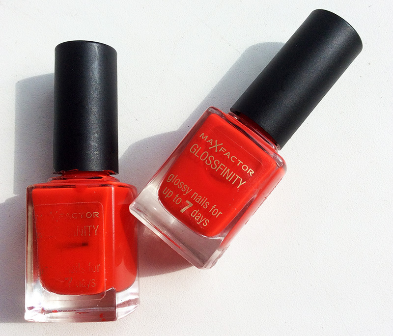 Max Factor Glossfinity Nail Polish in 85 Cerise review
