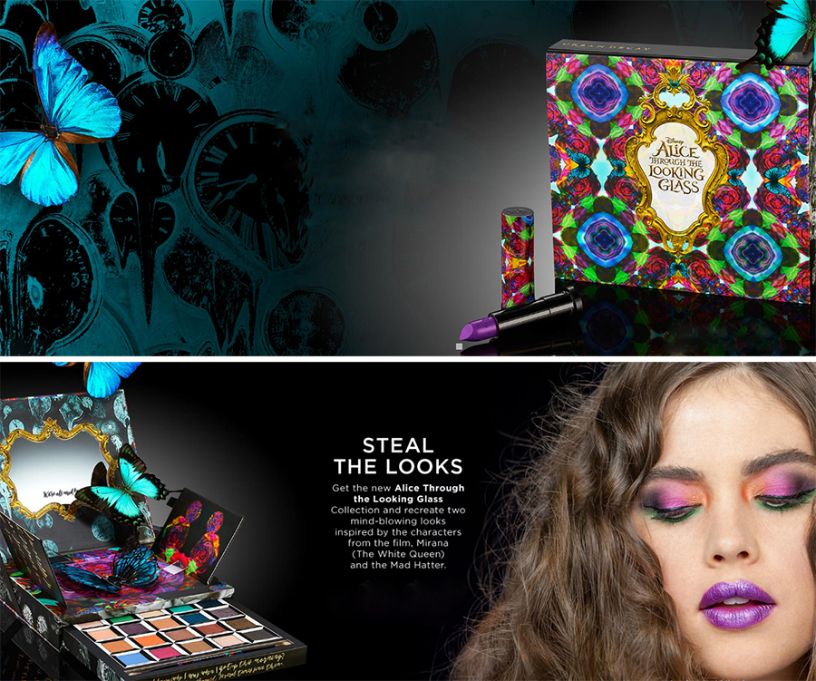 Urban Decay Alice Through the Looking Glass Collection promos summer 2016