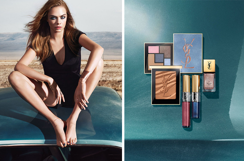 YSL Savage Escape Makeup Collection for Summer 2016 Cara Delevigne promo