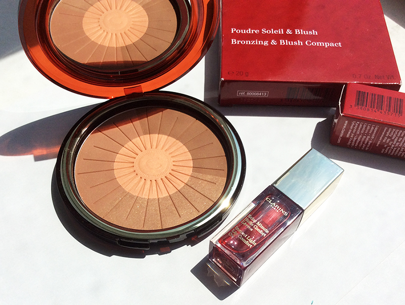 Clarins Summer Collection Bronzer and Lip Oil Review and Swatches 1