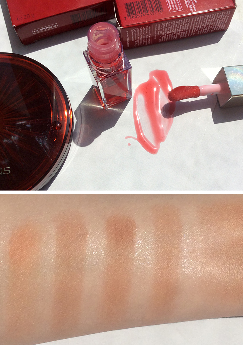 Clarins Summer Collection Bronzer and Lip Oil Review and Swatches 2