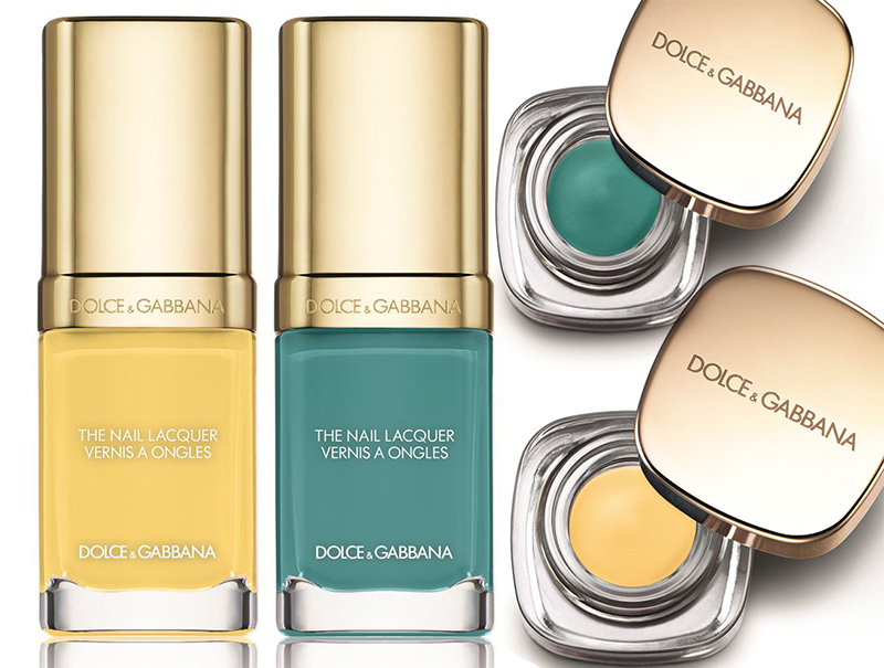 Dolce & Gabbana Makeup Collection for Summer 2016 yellow and turquoise