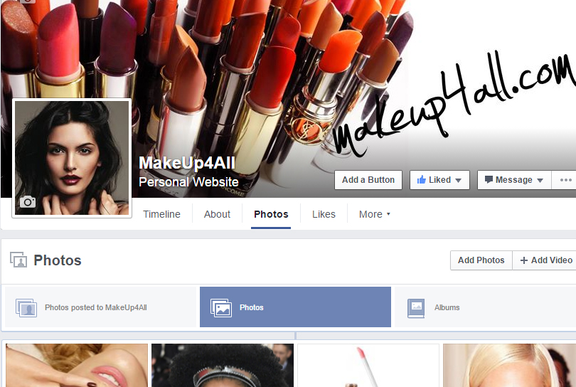 Makeup4all Facebook page overview