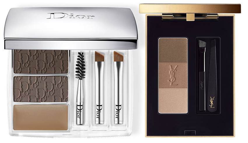 SS16 Eye Brows Products Dior and YSL palettes