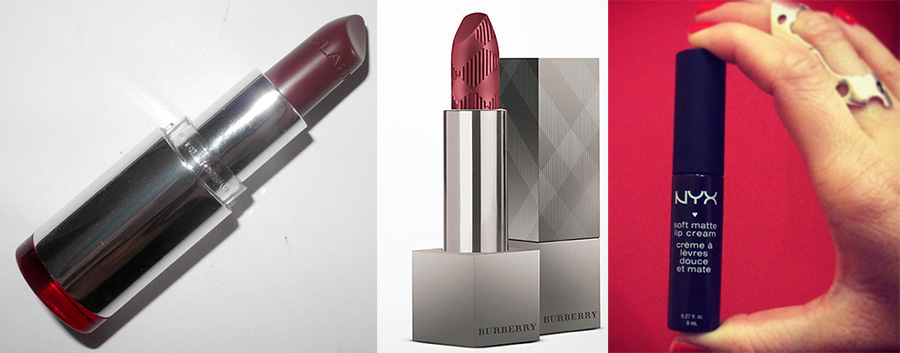 Lipstick tag makeup4all clarins nyx and burberry
