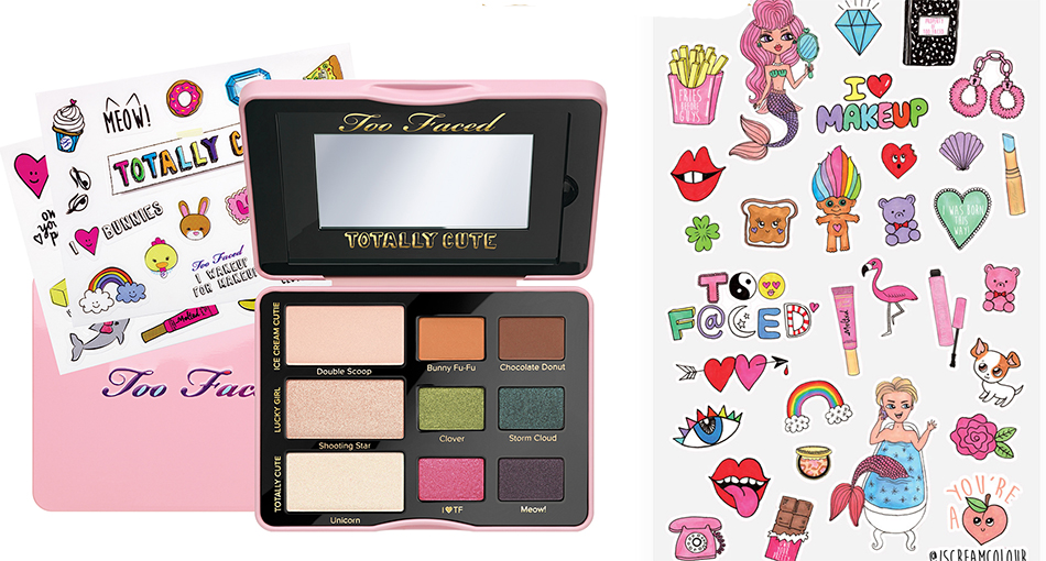Too Faced Makeup Collection for Autumn 2016 Totally Cute Eye Shadow collection