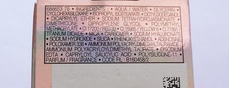 Vichy Idealia Skin Serum Review ingredients