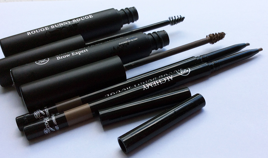 Rouge Bunny Rouge Eye Brow Products eye pencil and eye brow gel Review and Swatches