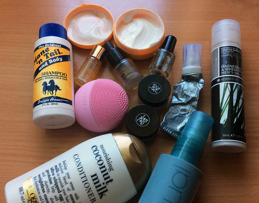 Makeup and beauty Products For Two Weeks Away